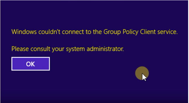 Fix Windows Couldn't Connect to the Group Policy Client Service