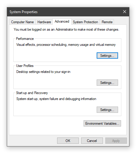 click on settings under performace section