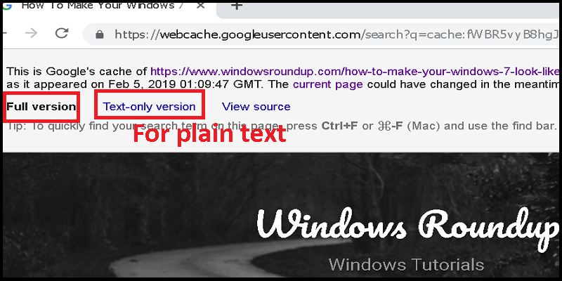 Ways To Find Cached Pages in Chrome