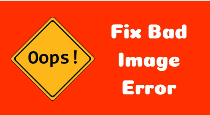 fix bad image error