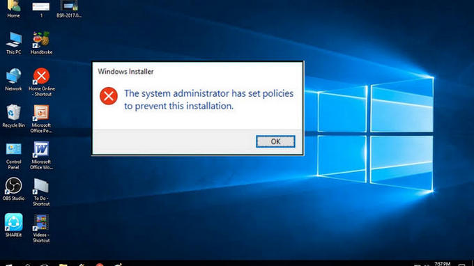 The System Administrator Has Set Policies To Prevent This Installation [Fix]